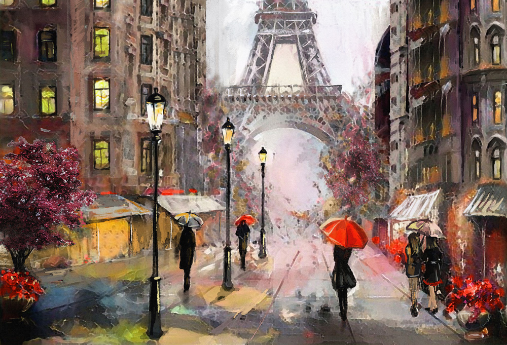 Oil Painting, Paris